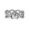0.8 ct. Round Cut Bridal Set Ring, J, SI1 #3