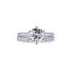1.51 ct. Round Cut Bridal Set Ring, J, I1 #3