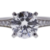 1.02 ct. Round Cut Solitaire Ring, F, VS1 #4
