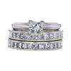 1.01 ct. Princess Cut Bridal Set Ring, J, I1 #3