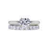 1.01 ct. Round Cut Bridal Set Ring, H, I1 #3