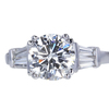 2.04 ct. Round Cut 3 Stone Ring, H, SI2 #3