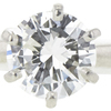 0.85 ct. Round Cut Solitaire Ring, G, SI2 #4
