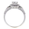 0.64 ct. Round Cut Bridal Set Ring, F, VVS2 #4