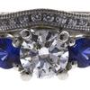 1.0 ct. Round Cut Bridal Set Ring, I, SI1 #4