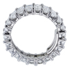 Emerald Cut Eternity Band Ring, F-G, VS1-VS2 #3
