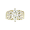 3.01 ct. Marquise Cut Solitaire Ring, K, I1 #3