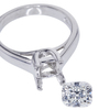 1.25 ct. Cushion Cut Solitaire Ring #3
