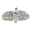 0.98 ct. Marquise Cut Ring, D, SI1 #3