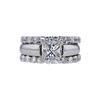 1.42 ct. Princess Cut Bridal Set Ring, G, I2 #2
