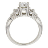 0.87 ct. Round Cut 3 Stone Ring, H, I1 #4