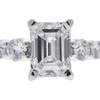 1.01 ct. Emerald Cut Bridal Set Ring, E, VS2 #4
