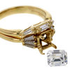 1.05 ct. Emerald Cut Bridal Set Ring #4