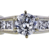 0.71 ct. Round Cut Bridal Set Ring, D, I1 #4