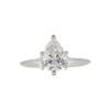 1.0 ct. Pear Cut Solitaire Ring, F, I1 #3