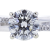 1.14 ct. Round Cut Bridal Set Ring, G, I1 #4