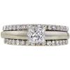0.93 ct. Princess Cut Bridal Set Ring, G-H, VS1 #1