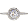 0.98 ct. Round Cut Halo Ring, D, SI2 #3