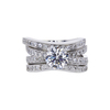 1.06 ct. Round Cut Bridal Set Ring, F, SI1 #3
