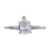 0.81 ct. Pear Cut Solitaire Ring, F, SI2 #3
