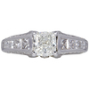 0.97 ct. Cushion Cut Solitaire Ring, I, SI2 #3