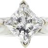 1.52 ct. Princess Cut Bridal Set Ring, H, I1 #4