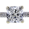 1.25 ct. Cushion Cut Bridal Set Ring, E, VS1 #4