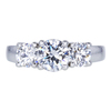 .74 ct. Round Cut 3 Stone Ring, D, VS1 #3