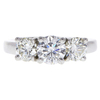 0.72 ct. Round Cut 3 Stone Ring, H, SI1 #3