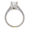 0.88 ct. Oval Cut Bridal Set Ring, I, SI1 #4