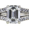 1.20 ct. Emerald Cut Bridal Set Ring, G, VS2 #2