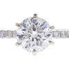 1.2 ct. Round Cut Bridal Set Ring, G, I2 #4