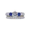 0.71 ct. Round Cut Bridal Set Ring, G, SI2 #3