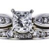 0.79 ct. Princess Cut Bridal Set Ring, G, VS1 #4