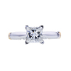 1.09 ct. Princess Cut Solitaire Ring, G, VS2 #3