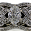 1.01 ct. Oval Cut Bridal Set Ring #1