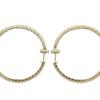 Round Cut Hoops Earrings, G-H, SI2-I1 #3