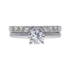1.0 ct. Round Modified Brilliant Cut Bridal Set Ring, G, SI1 #3