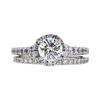 0.94 ct. Round Cut Bridal Set Ring, H, SI2 #3