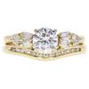 0.72 ct. Round Cut Bridal Set Ring, E, VS2 #3
