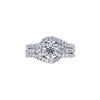 0.90 ct. Round Cut Bridal Set Ring, I, I1 #3