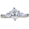 0.90 ct. Oval Cut 3 Stone Ring, G, VS1 #3
