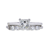 1.01 ct. Princess Cut Bridal Set Ring, H, VVS2 #3