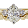 1.03 ct. Oval Cut 3 Stone Ring, I, SI1 #4
