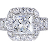 2.01 ct. Princess Cut Halo Ring #3