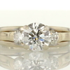 1.43 ct. Round Cut 3 Stone Ring #4