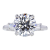 3.12 ct. Round Cut 3 Stone Ring #1