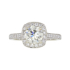 1.33 ct. Round Cut Halo Ring, M-Z, VS1 #3