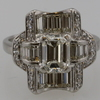 1.40 ct. Emerald Cut Right Hand Ring #2