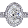 3.02 ct. Oval Cut Halo Ring #3